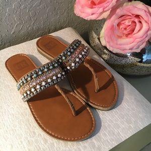 CR by Robbin Jewelled Flat Sandals